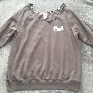 Victoria Secret PINK  off the shoulder sweater